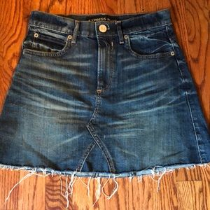 NWOT Denim Mini Skirt by Express Size 0